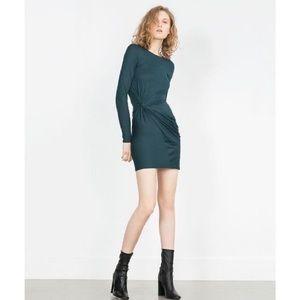 Zara w&b collection long sleeve dress